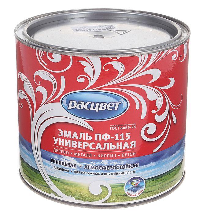 Эмаль Расцвет ПФ-115 черная 1,9 кг