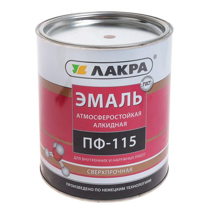 Эмаль ПФ-115  коричневая 2,8 кг