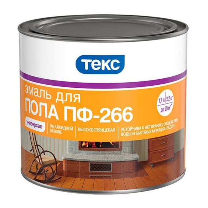 Эмаль ПФ-266 УНИВЕРСАЛ желто-коричневая гл 2,2кг ТЕКС