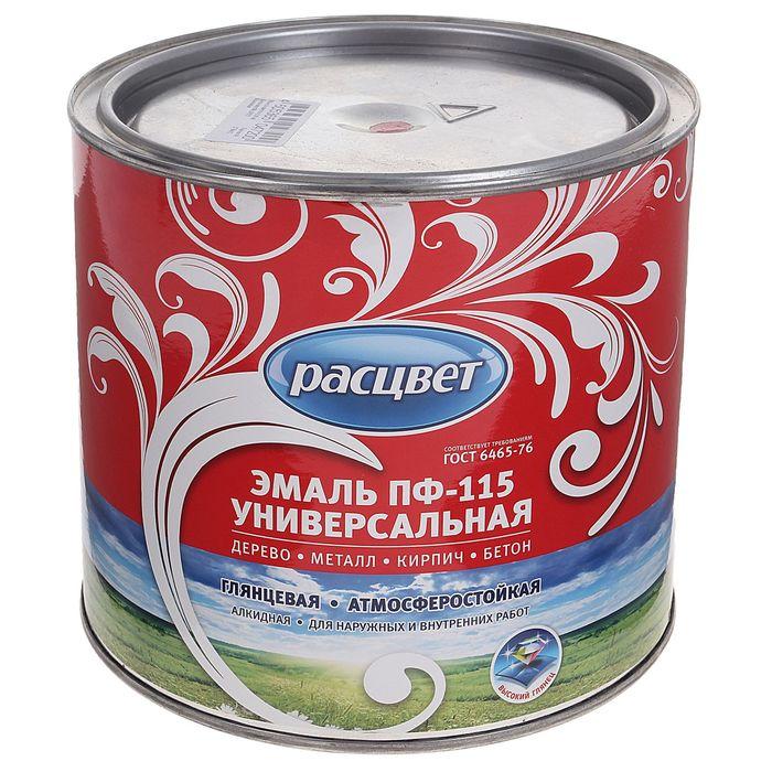 Эмаль Расцвет ПФ-115 красная 1,9 кг