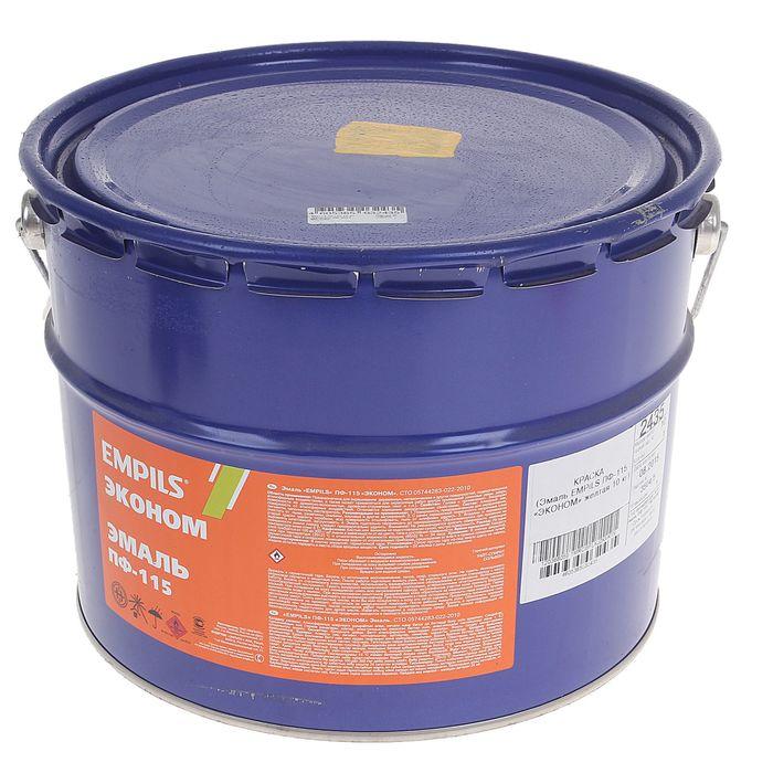 Эмаль EMPILS Эконом ПФ-115 жёлтая (барабан 10 кг)