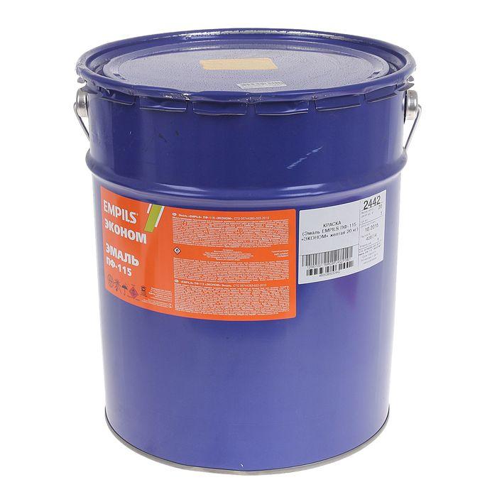 Эмаль EMPILS Эконом ПФ-115 жёлтая (барабан 20 кг)