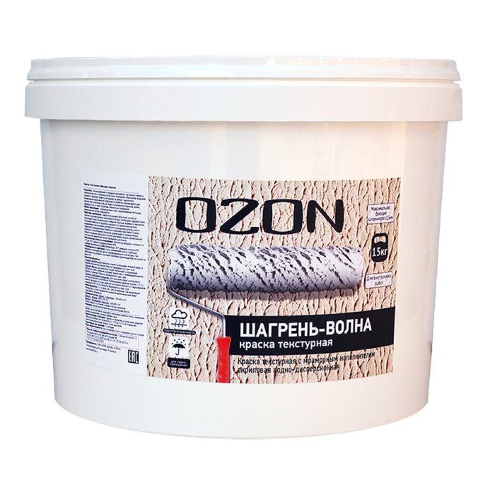 """Краска текстурная OZON """"Шагрень-волны"""" ВД-АК 271М акриловая 6 кг"""