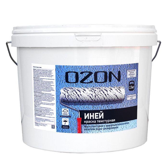 """Краска текстурная OZON """"Иней"""" ВД-АК 263М акриловая 6 кг"""