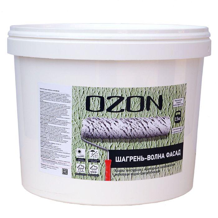 """Краска текстурная OZON """"Шагрень-волны ФАСАД"""" ВД-АК 171(5)М акриловая 6 кг"""