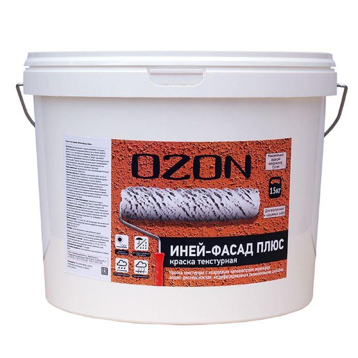 """Краска текстурная OZON """"Иней-фасад"""" ВД-АК 163(4)М акриловая 6 кг"""