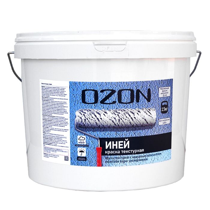 """Краска текстурная OZON """"Иней"""" ВД-АК 263М акриловая 15 кг"""