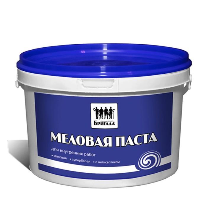 Меловая паста «Бригада» побелка для внутренних работ 15кг