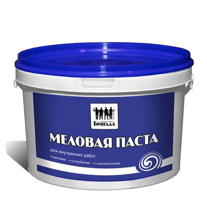 Меловая паста «Бригада» побелка для внутренних работ 5кг