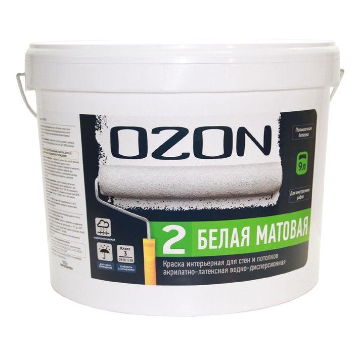 Краска интерьерная OZON-2 ВД-АК 222АМ акрилатно-латексная, база А 0,9 л (1,4 кг)