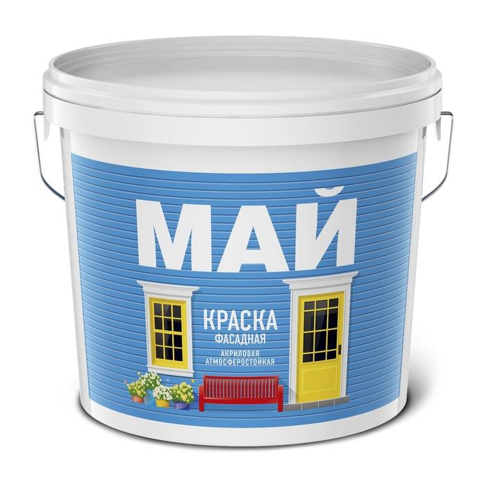 Краска акриловая МАЙ фасадная 2,5 кг