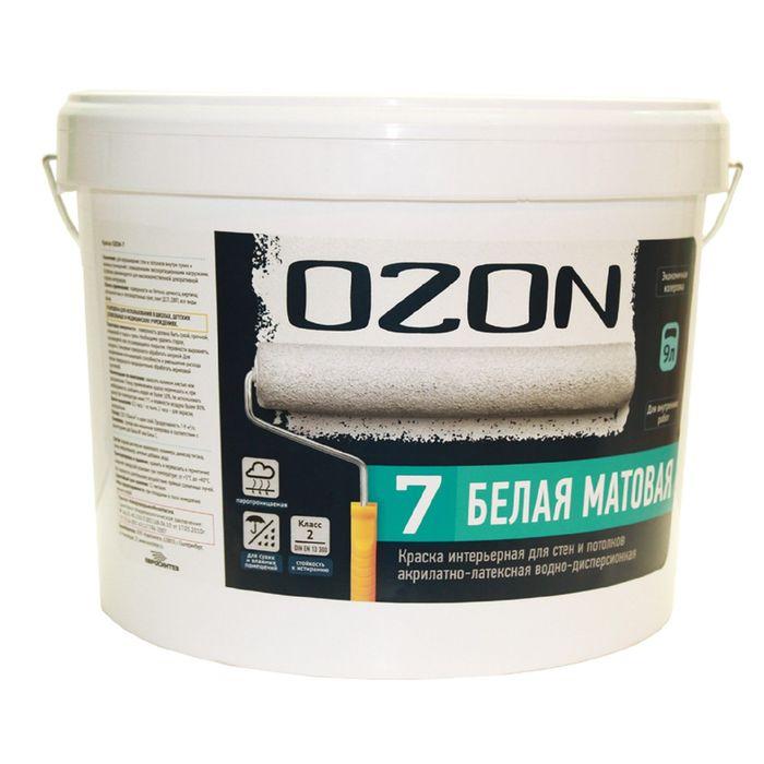 Краска интерьерная OZON-7 ВД-АК 233АМ акрилатно-латексная, база А 0,9 л (1,3 кг)