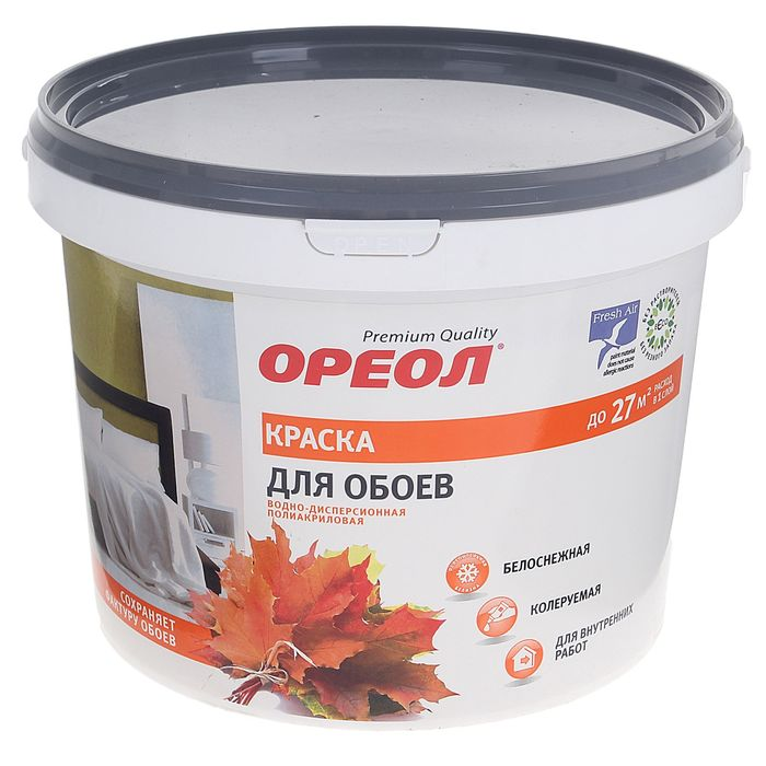 Краска водно-дисперсионная Ореол для обоев 3 кг