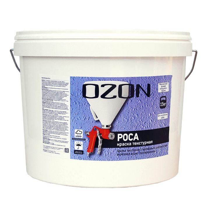 """Краска текстурная OZON """"Роса"""" ВД-АК 269М акриловая 6 кг"""
