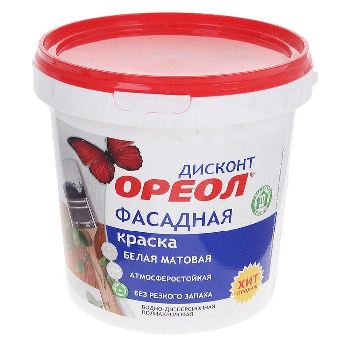 Краска водно-дисперсионная  Ореол для наруж. работ  1,5 кг