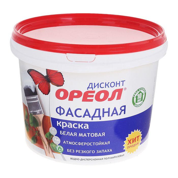 Краска водно-дисперсионная  Ореол для наружных работ 3 кг