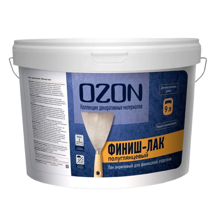 """Лак акриловый OZON """"Финиш-лак"""" 9 л (9 кг)"""