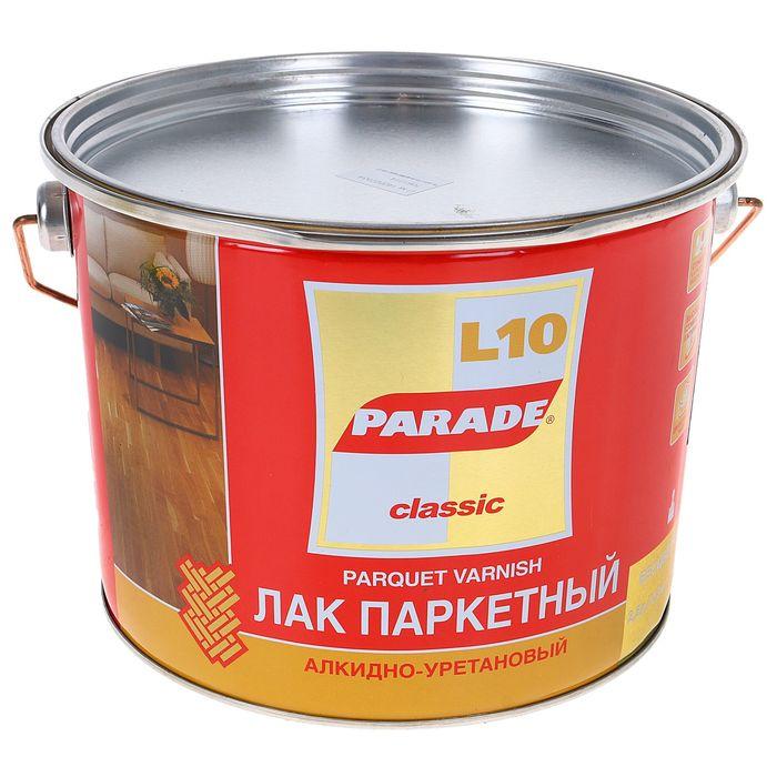 Лак паркетный алкидно-уретановый L10 PARADE матовый 10 л