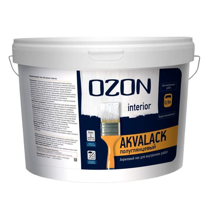 Лак универсальный акриловый OZON Akvalack-interior 0,9 л (0,9 кг)