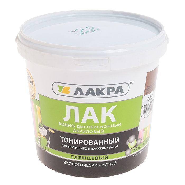 Лак ВД Лакра тонированный Орех 0,9 кг