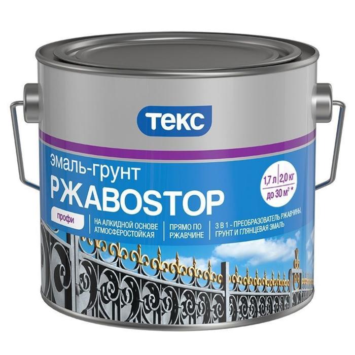 Эмаль-грунт РжавоStop ПРОФИ ТЕКС коричневая гл 0,9кг