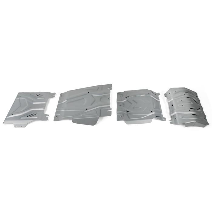 Защита радиатора, картера, КПП, РК Mitsubishi Pajero Sport III 16-, al 4mm, K333.4046.3