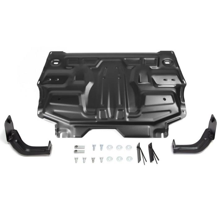 Защита картера и КПП АвтоБРОНЯ для Seat Ibiza 2008-2014, сталь 1,5 мм, с крепежом, 111.05842.1