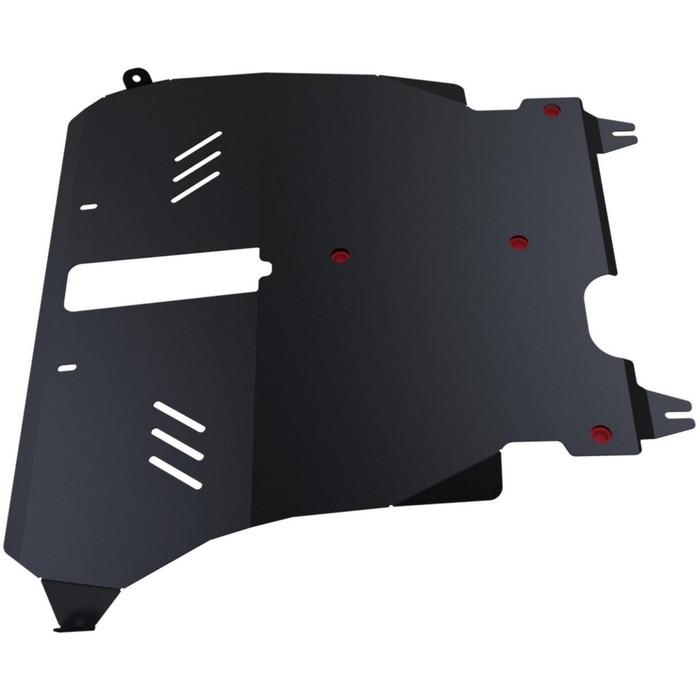Защита картера и КПП АвтоБРОНЯ для Toyota Ipsum (V - 2.0) FWD 1996-2001, сталь 2 мм, с крепежом, 111.05725.1