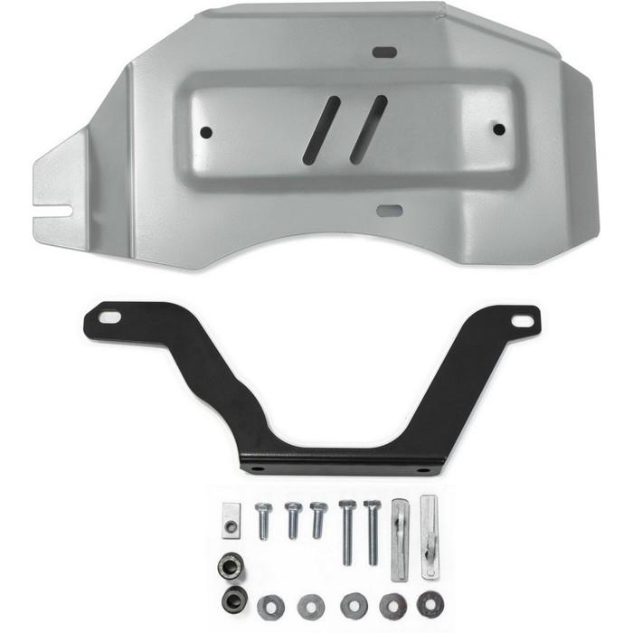 Защита редуктора Rival для Nissan Qashqai (V - 2.0) 4WD 2014-н.в./Nissan X-Trail (V - 2.0; 2.5) 4WD 2015-н.в./Renault Koleos (V - 2.0; 2.5; 2.0d) 4WD 2017-н.в., алюминий 4 мм, с крепежом, 333.4150.1