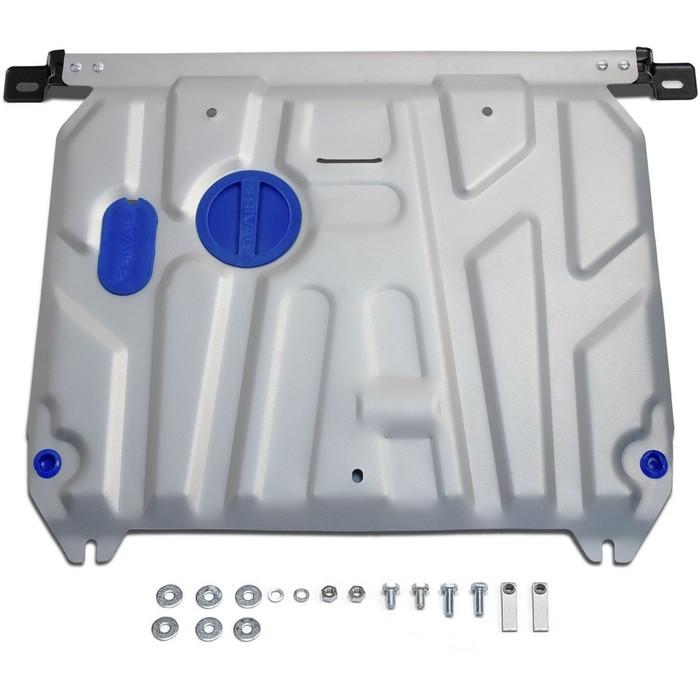 Защита картера и КПП Rival для Kia Rio 2011-2017, крепеж в комплекте, алюминий 4 мм