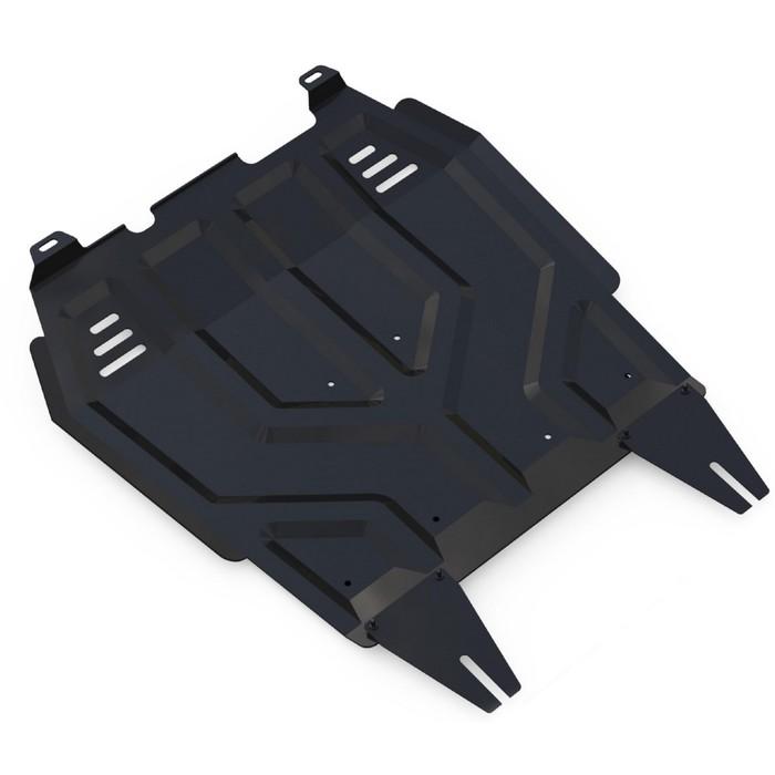 Защита картера и КПП Rival для Mitsubishi Lancer X (V - 1.5; 1.8; 2.0) 2007-2016, сталь 2 мм, с крепежом, 111.4037.1