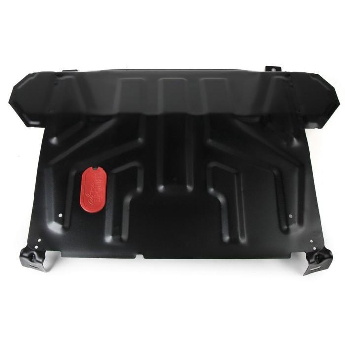Защита картера и КПП АвтоБРОНЯ для Lada Priora (V - 1.6) 2007-н.в., сталь 2 мм, без крепежа, 1.06018.1