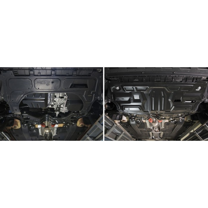 Защита картера и КПП Rival для Skoda Rapid I, I рестайлинг 2012-2017 2017-н.в., сталь 2 мм, с крепежом, 111.5842.1
