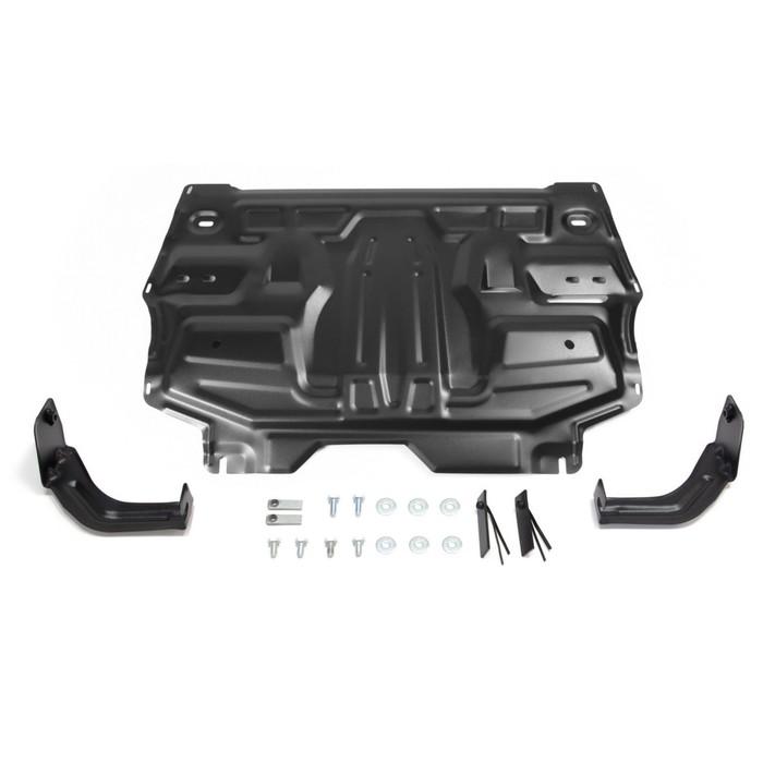 Защита картера и КПП Rival для Skoda Roomster 5J 2006-2015, сталь 2 мм, с крепежом, 111.5842.1