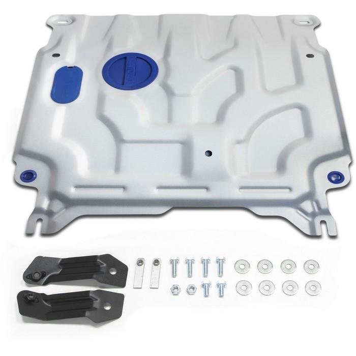 Защита картера и КПП Rival для Hyundai Solaris (V - 1.4; 1.6) 2017-, крепеж в комплекте, алюминий 4 мм