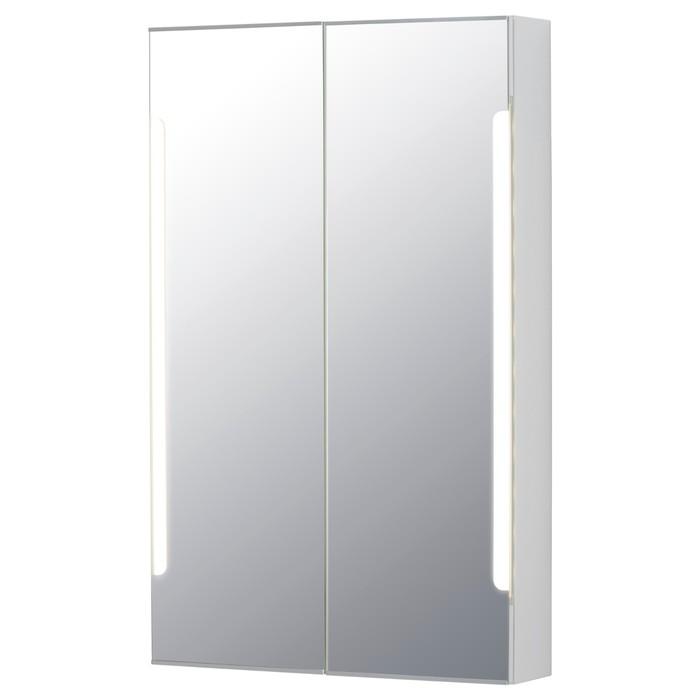 Зеркальный шкафчик СТОРЙОРМ, 2 дверцы, подсветка, цвет белый