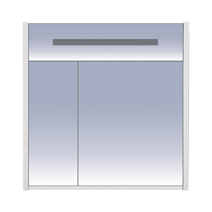 Шкаф-зеркало Джулия - 85 белый