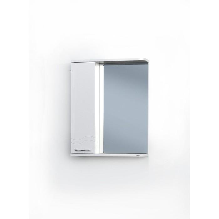Шкаф-зеркало Волна Левый 55