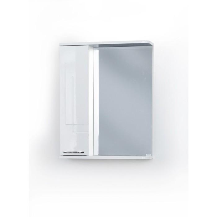 Шкаф-зеркало Аттика Левый 55