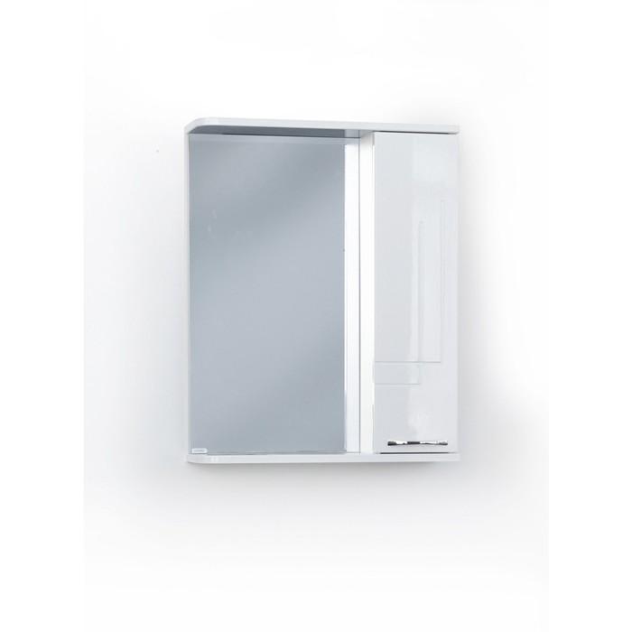 Шкаф-зеркало Аттика правый 55