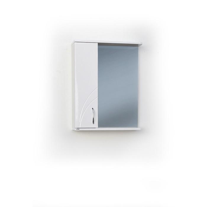 Шкаф-зеркало Жемчужина Левый 55