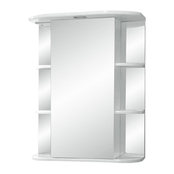 "Зеркало-шкаф ""Герда, светильник"" 500 фацет правое"