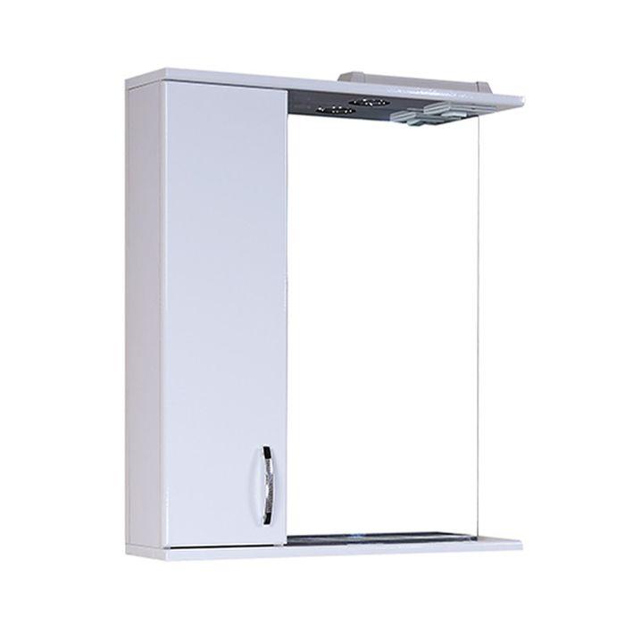 Шкаф-зеркало Гоа 60 см. с подсветкой - левое
