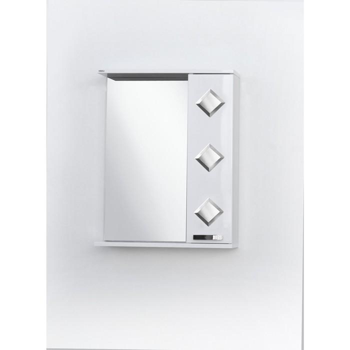 Шкаф-зеркало Квадро правый 55