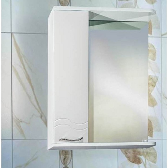 Шкаф-зеркало Волна (с подсветкой ) Левый 55
