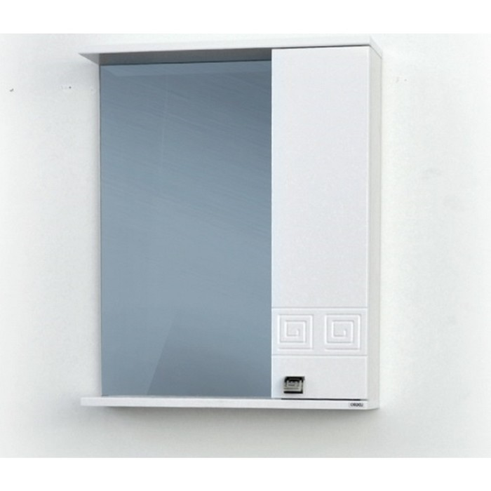 Шкаф-зеркало Этно (с подсветкой ) правый 55