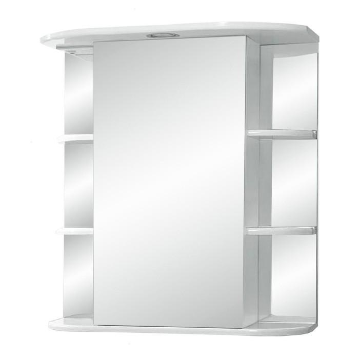 "Зеркало-шкаф  ""Герда, светильник"" 600  фацет правое"