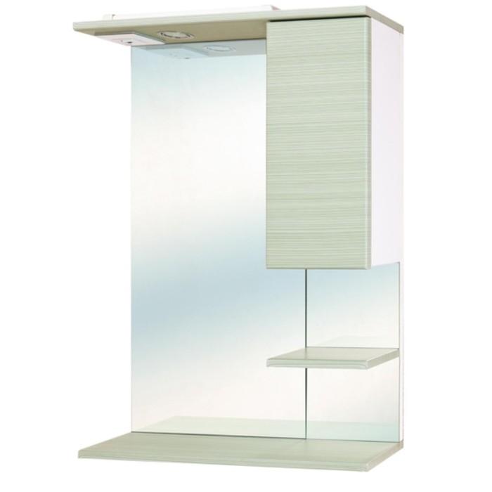 Зеркало-шкаф STELLA Дели - Олива 58 см. со светом левое