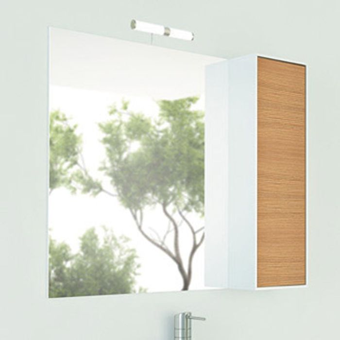 """Зеркало-шкаф для ванной """"Терция-90"""" 80 х 90 х 15 см , кофе полоска"""