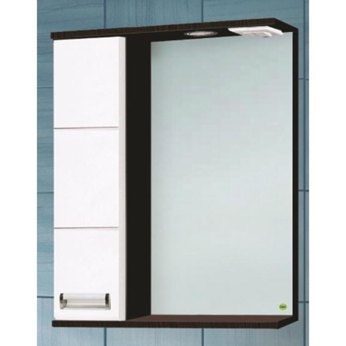 """Зеркало-шкаф """"Флора 700 Т со светом"""" Венге, левое арт.11768"""